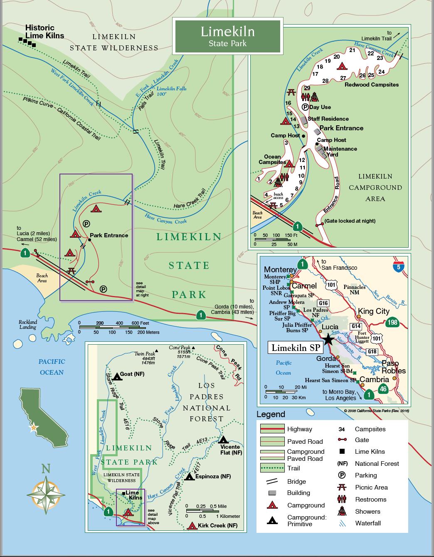 Limekiln State Park Map