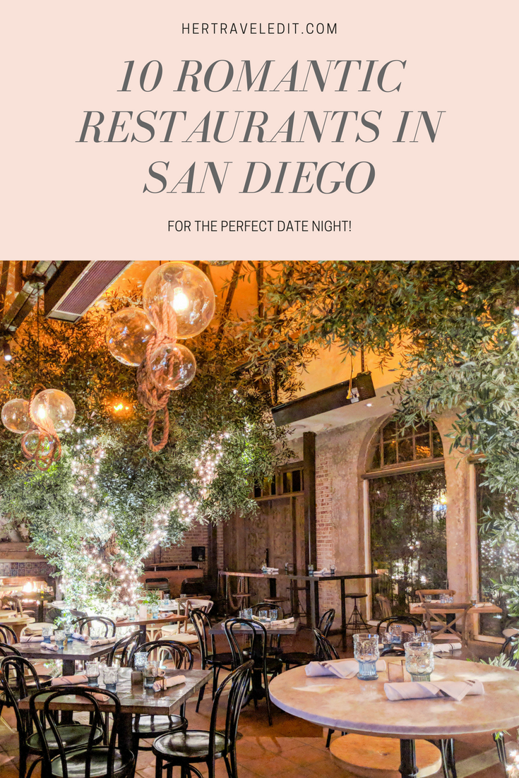 Top Ten Romantic Restaurants in San Diego