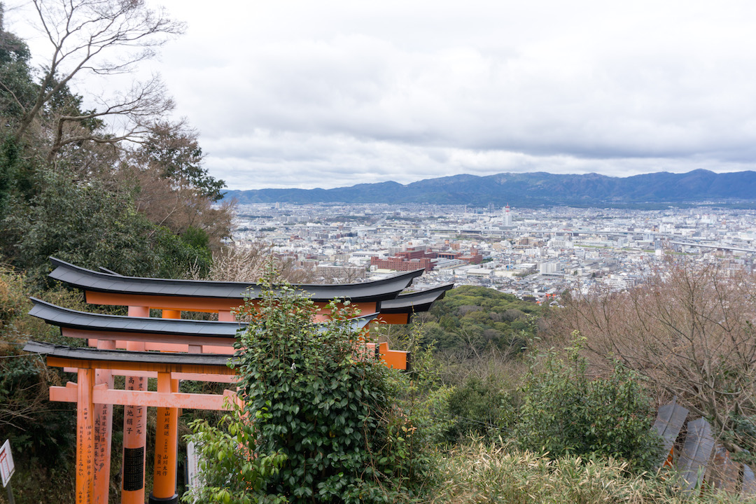 Fushimi Inari Hike Views