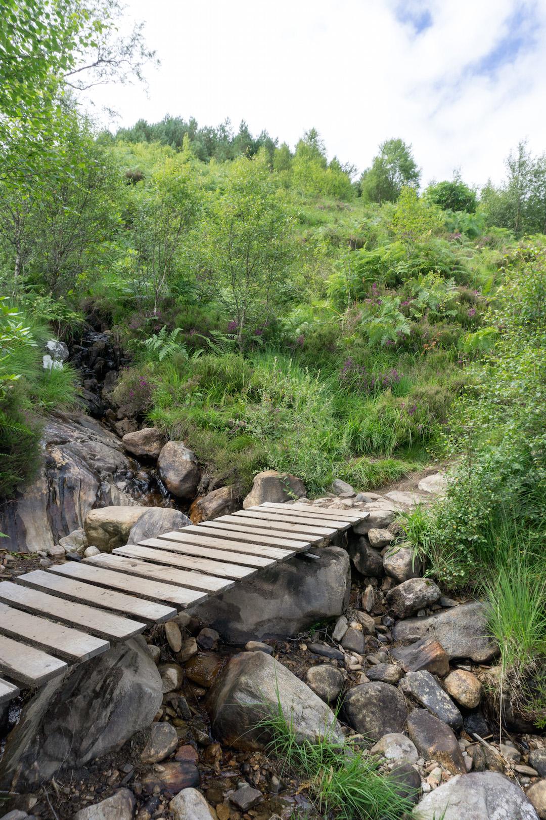 Bridge along the Glenfinnan Viaduct hike