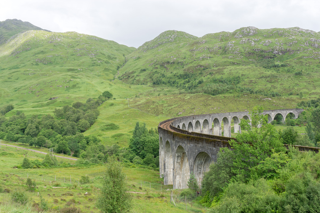 Views of the Glenfinnan Viaduct from the hike
