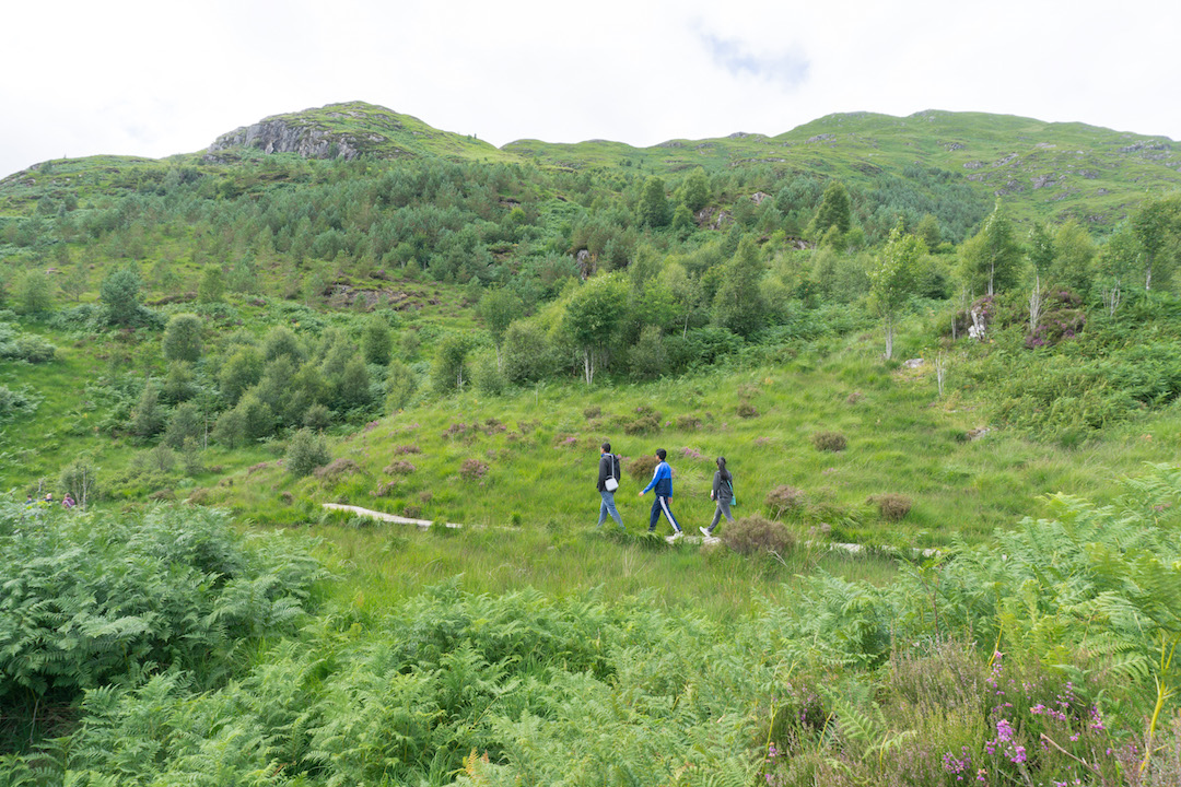 Hikers at Glenfinnan Viaduct