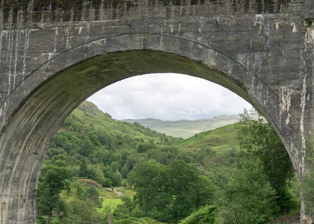 View through Glenfinnan Viaduct