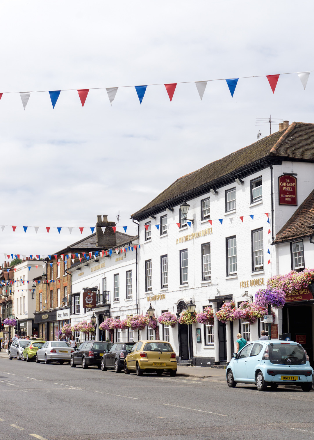 Streets of Henley decorated for Regatta