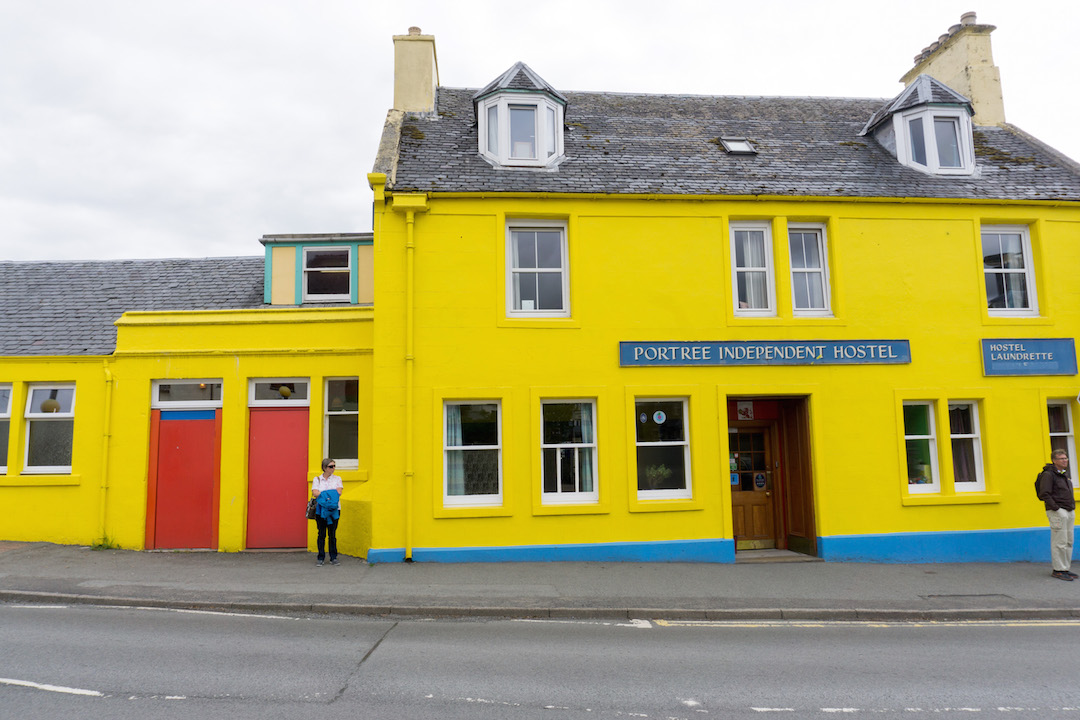 Colorful house in the Isle of Skye