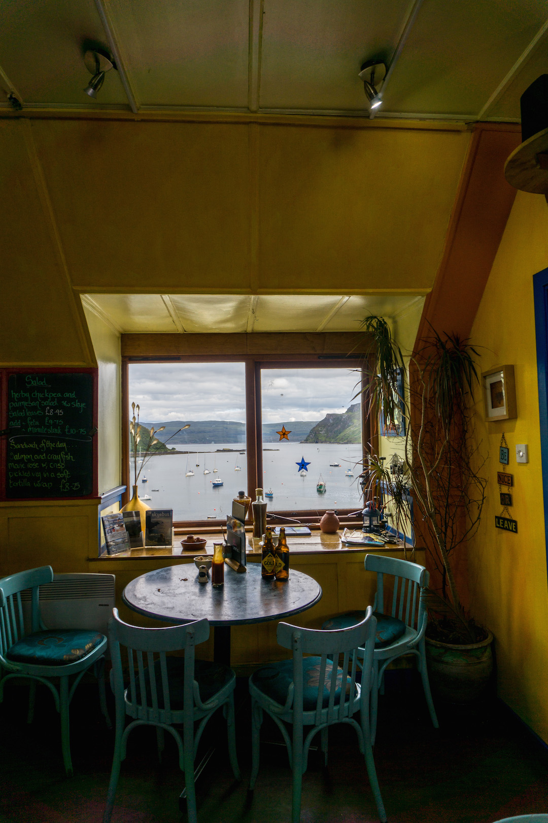 Views from a cafe in Portree