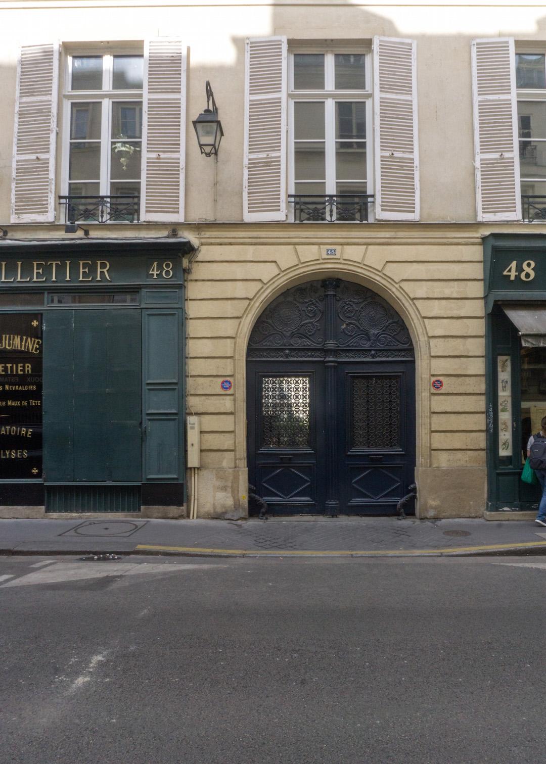 Parisian Door with shutters