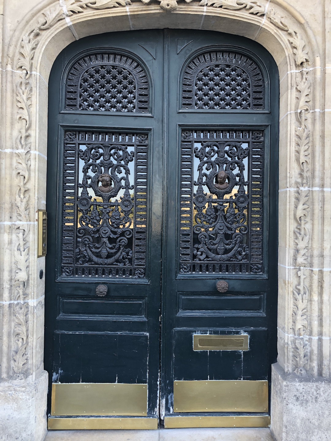 Paris Carved Green Door