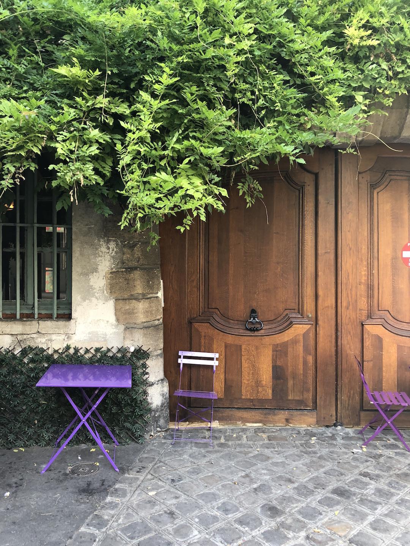 Paris Ivy Cafe Door