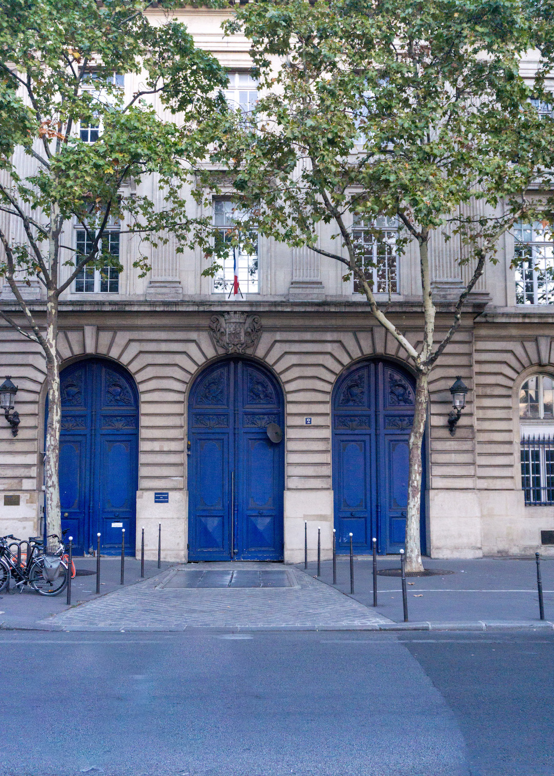 Paris Three Blue Doors