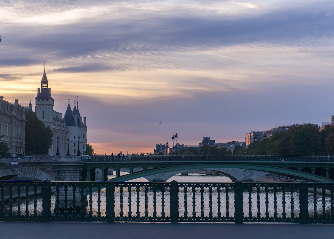 Sunset from Pont Louis Phillipe