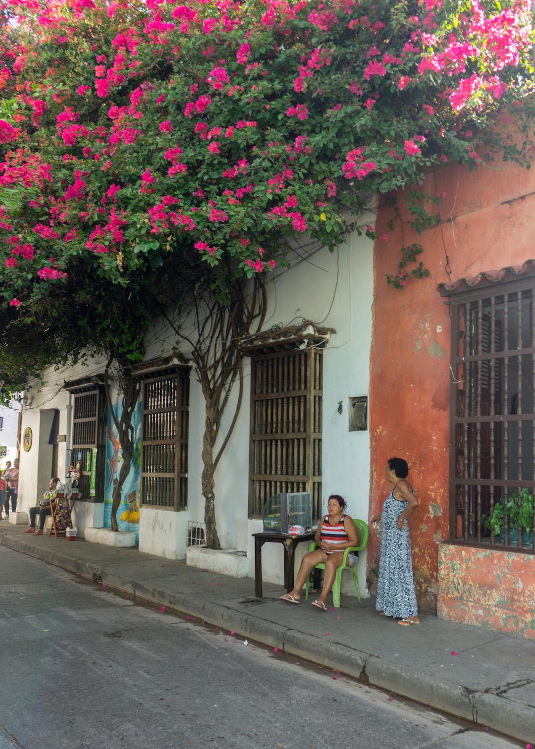 Street in Getsemani, Cartagena