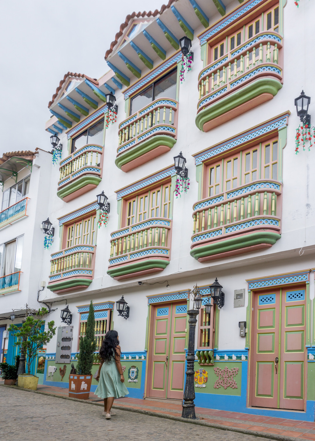 Colorful balconies in Guatape