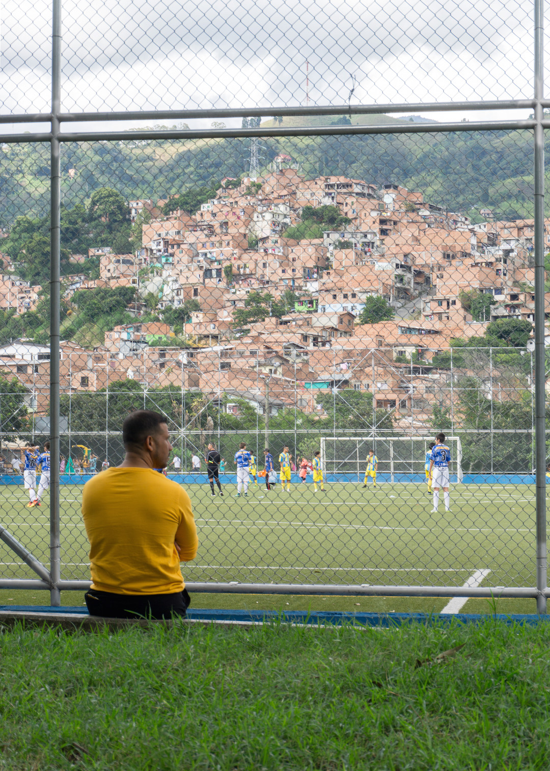 Locals in Communa 13, Medellin