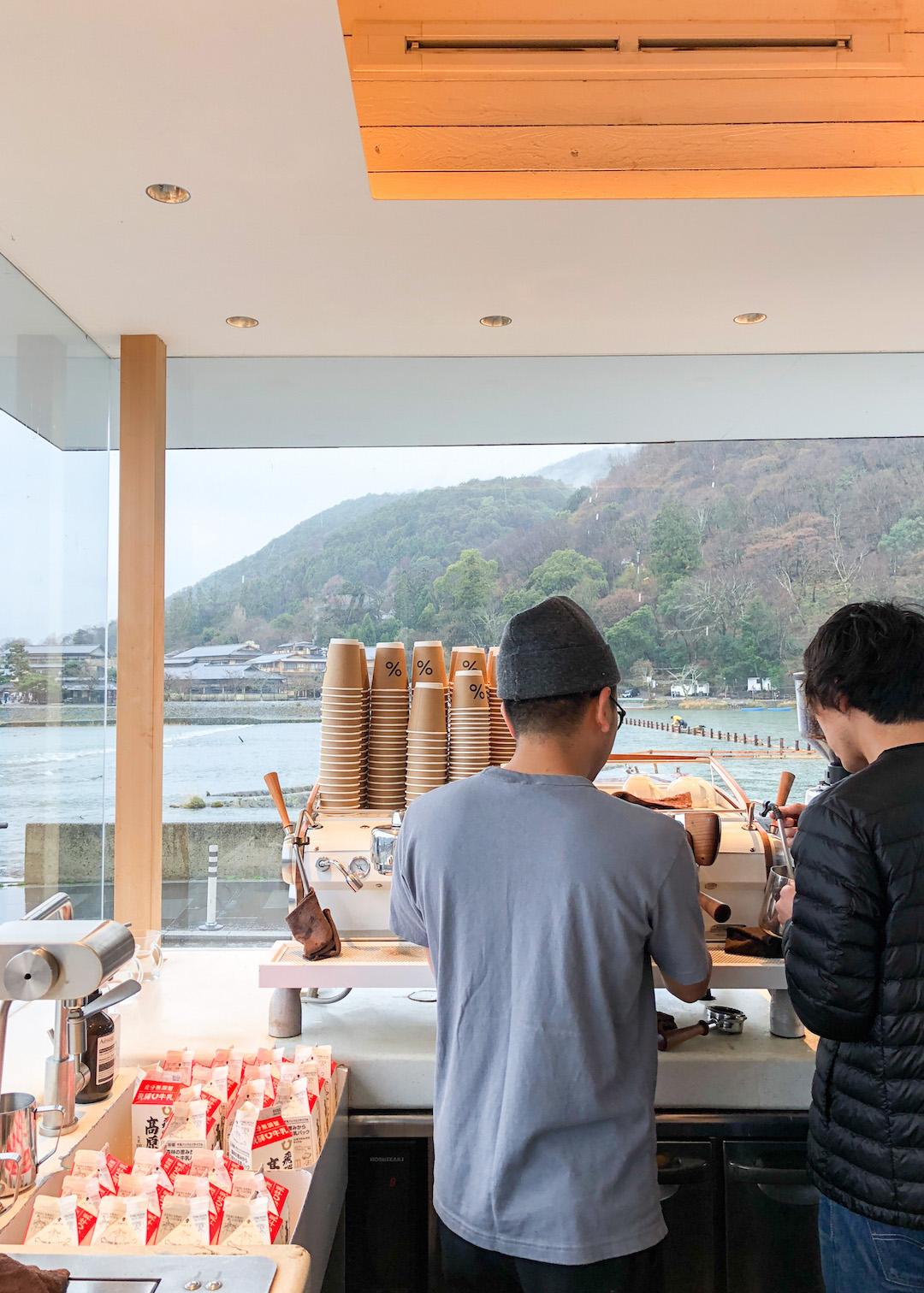 Percent Arabiaca Coffee Shop in Arashiyama