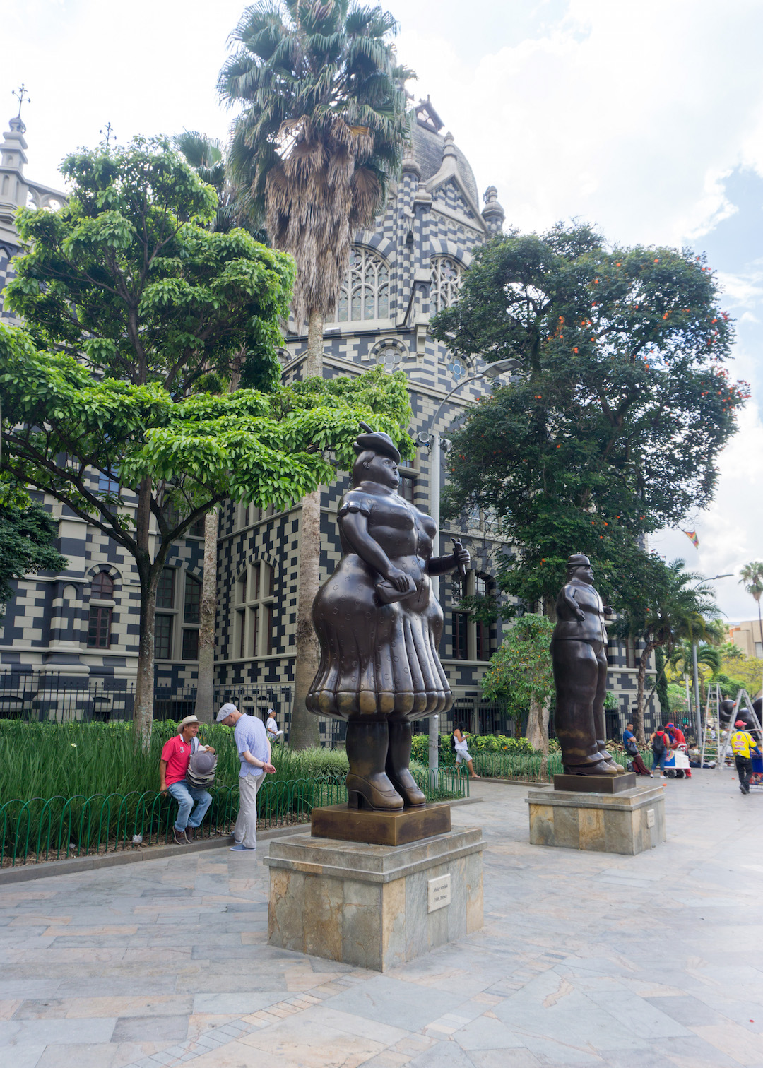 Plaza Botero with Botero sculptures in Medellin