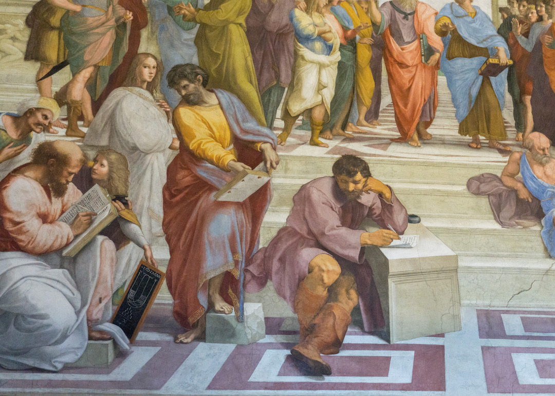 Michaelangelo in Raphael's Painting in Vatican City Rome