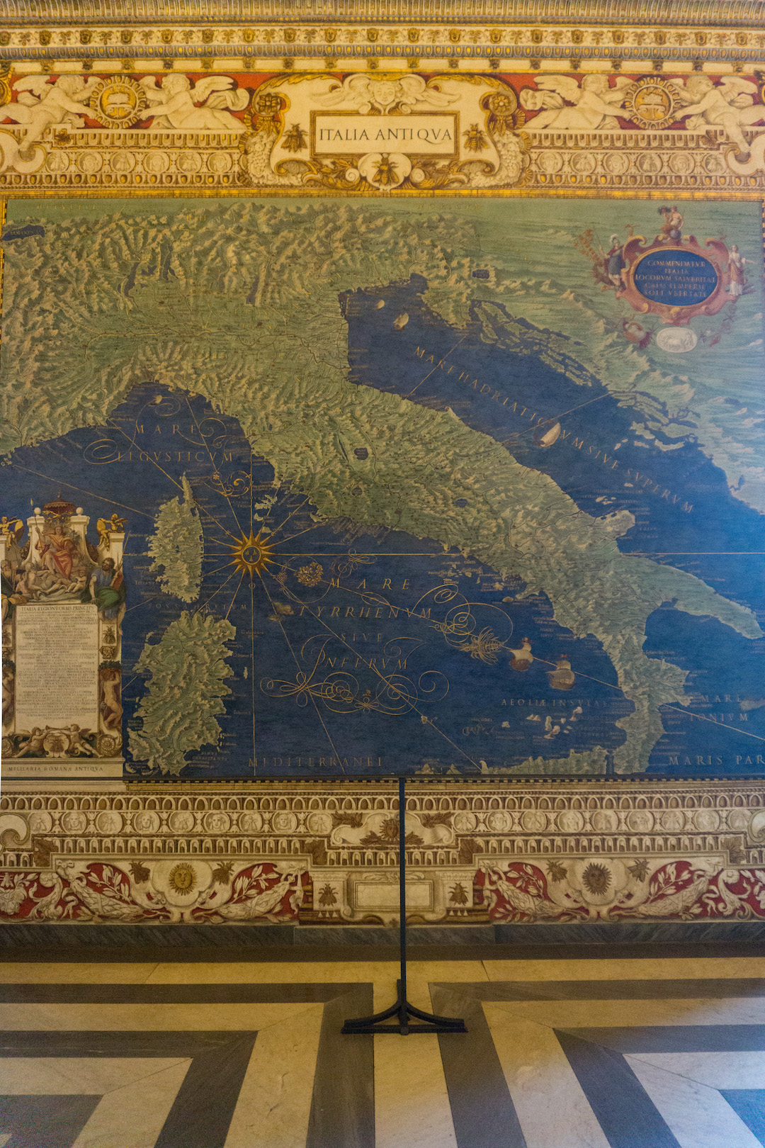 Old Map of Italy in the Vatican