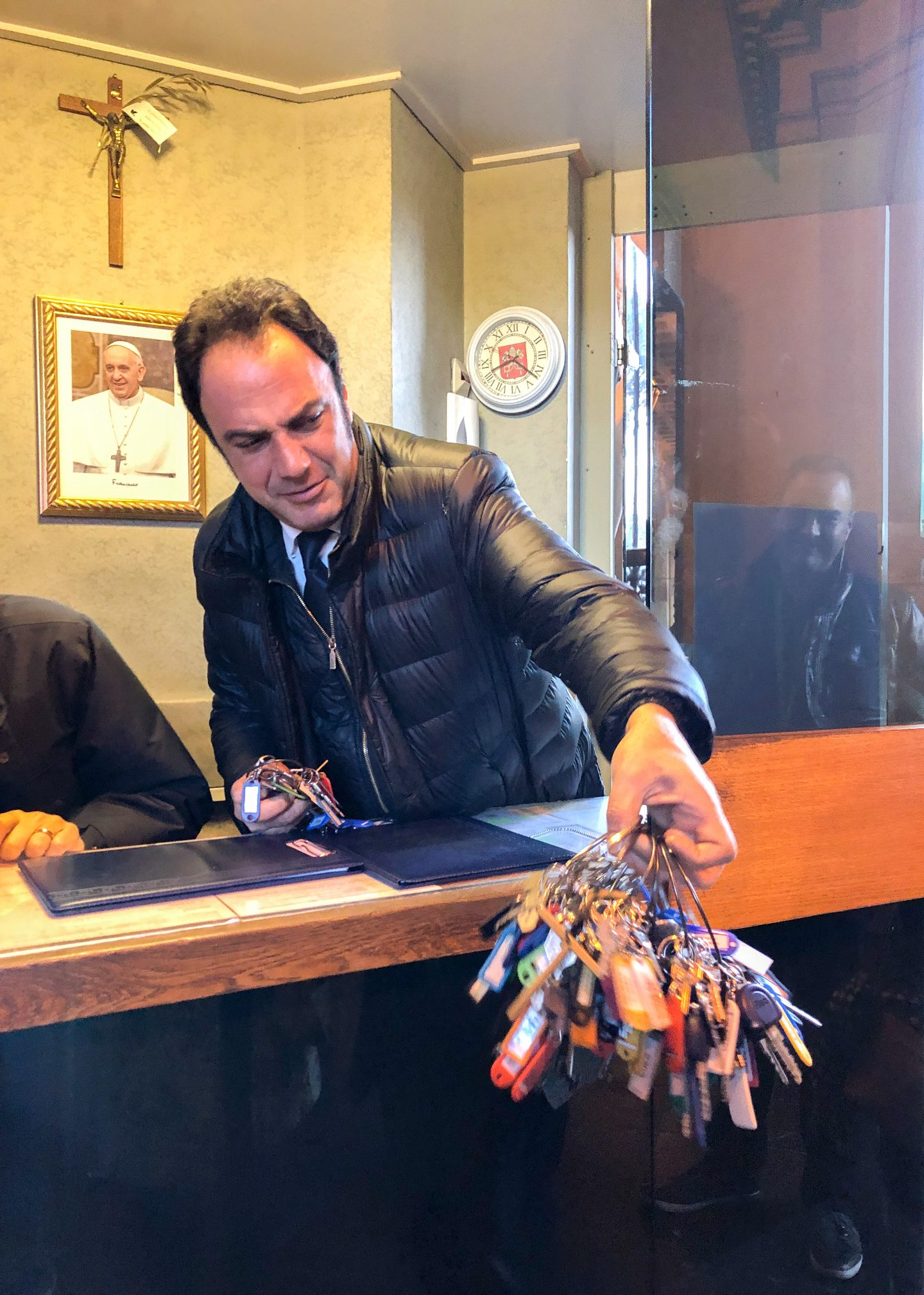 The curator of the Vatican Museums with keys to the Vatican