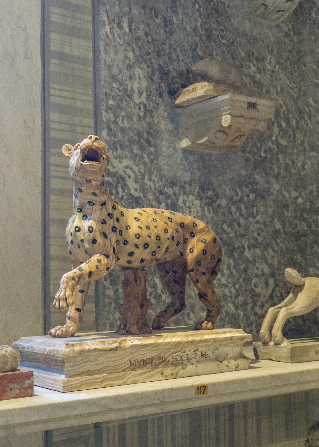 Spotted Leopard Statue in the Vatican