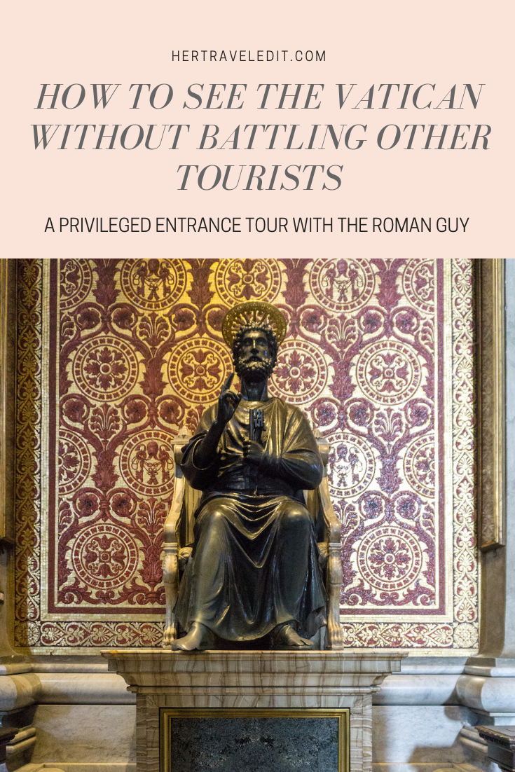 How to See the Vatican without Battling other Toursits - take the Privileged Entrance Tour with the Roman Guy