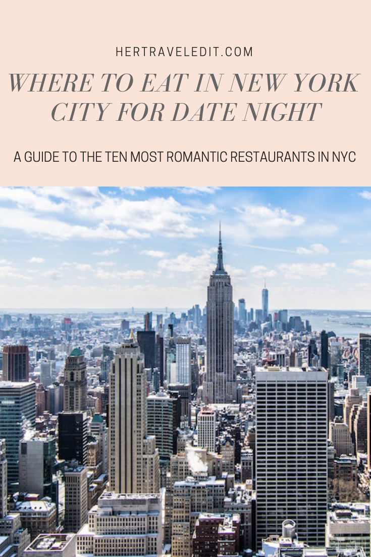 A Guide to the Ten Most Romantic Restaurants in New York City for the perfect date night