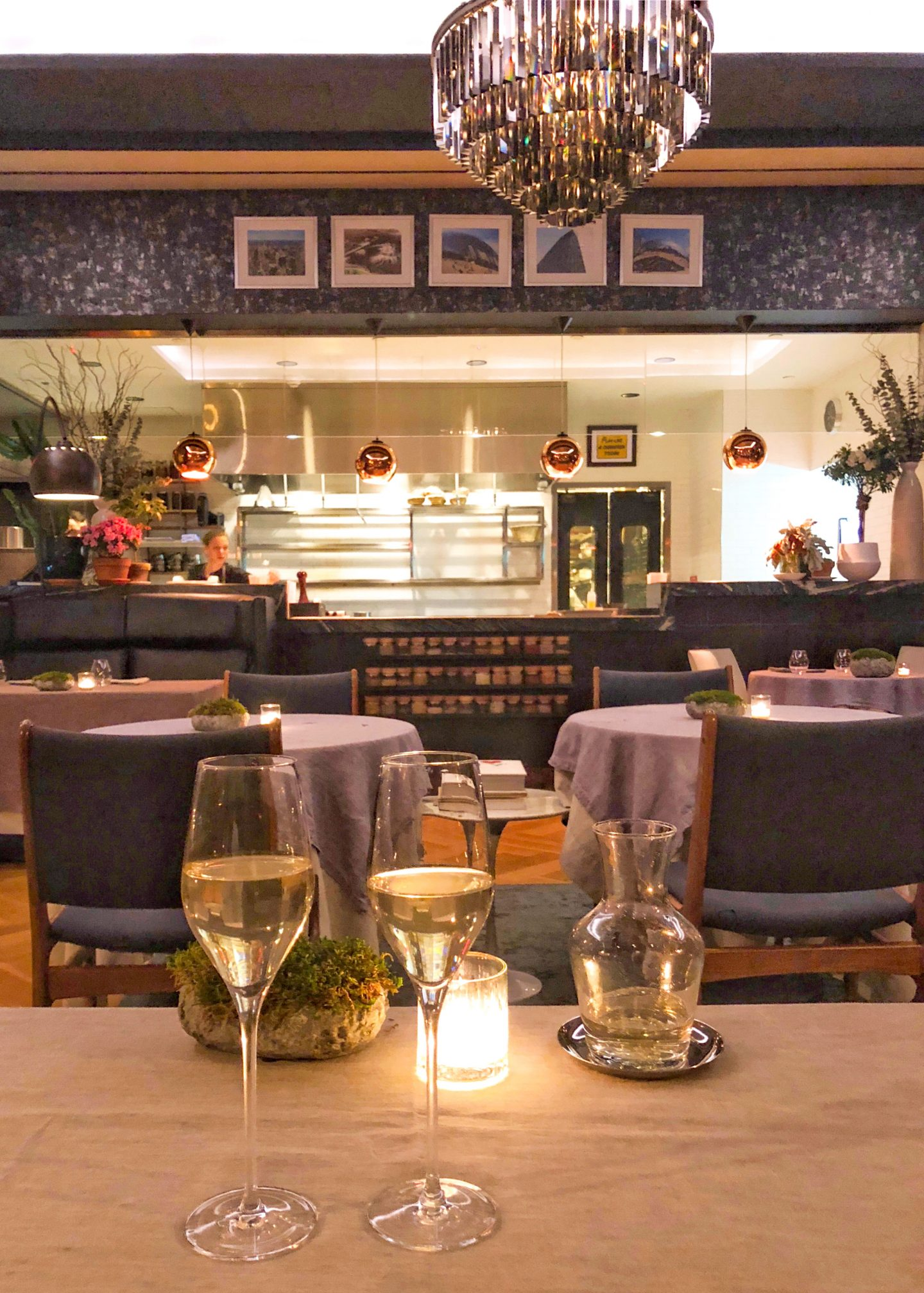 Dining at L'Appart in New York City