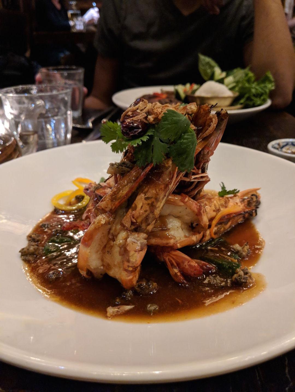Shrimp at Thai Villa in New York City