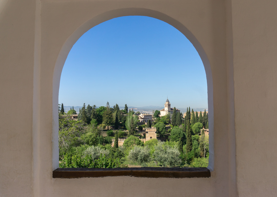 Window at the Generalife Alhambra