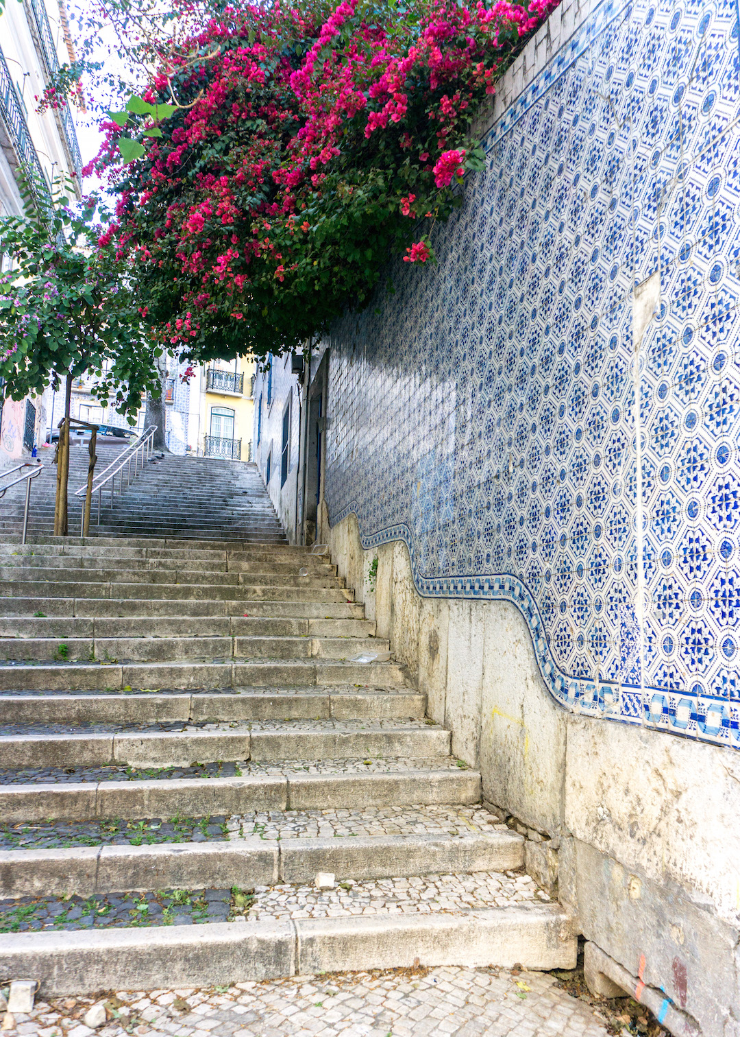 Tiled walls in Lisbon