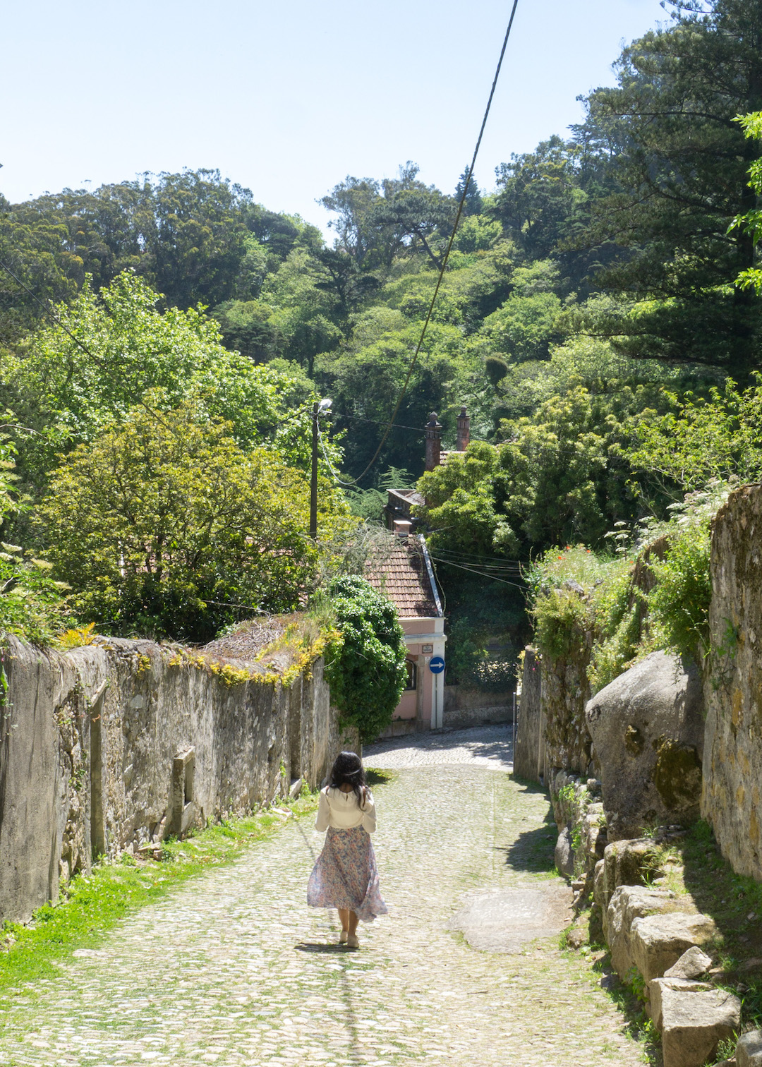Walking on the slopes of Sintra